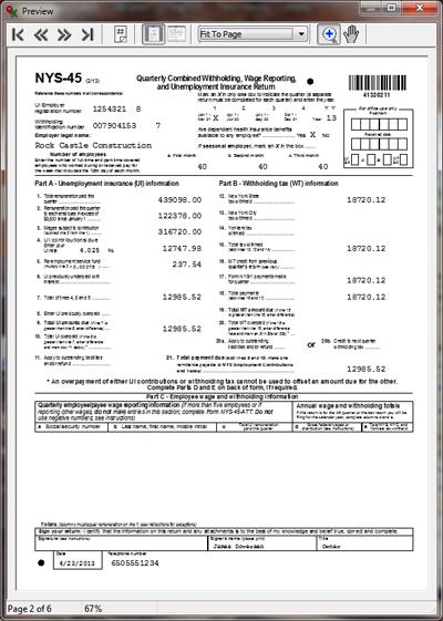 Qxplugin User Guide Ny Nys45 Quarterly Report E File Usage